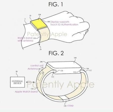 苹果新的Apple Watch曝光将采用屏幕指纹技术