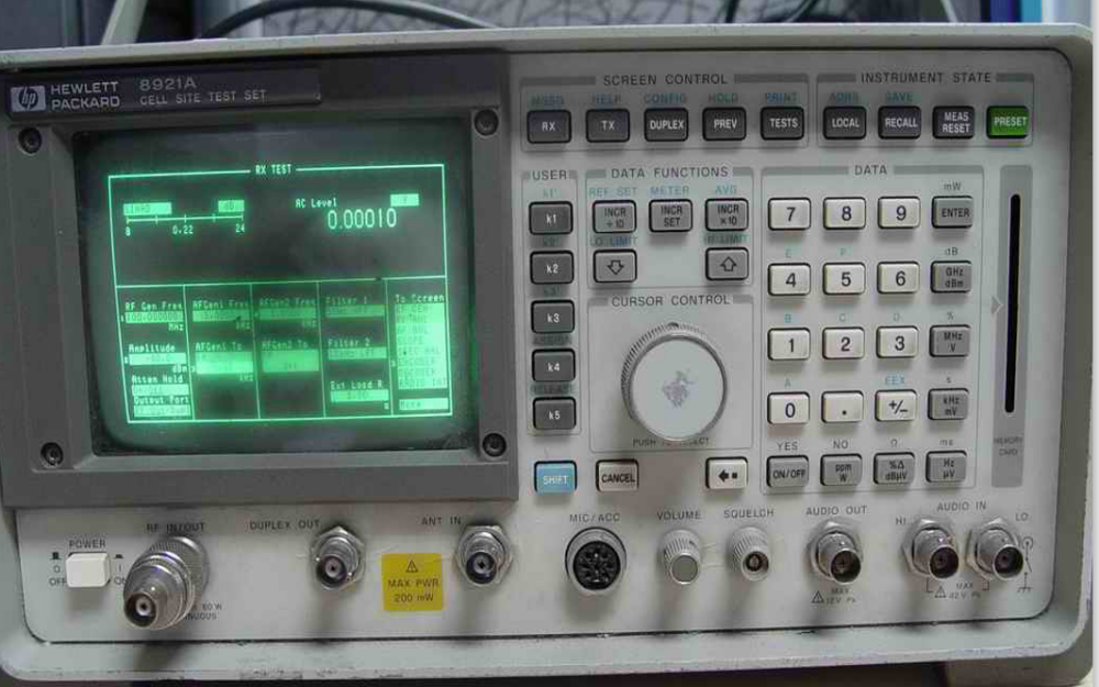 HP8920和HP8921惠普无线电测试仪操作快速入门教程免费下载