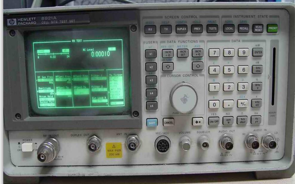 惠普无线电综合测试仪HP8920和HP8921的使用手册