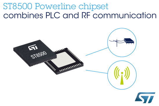 STMicroelectronics Releases Integrated RF and PLC