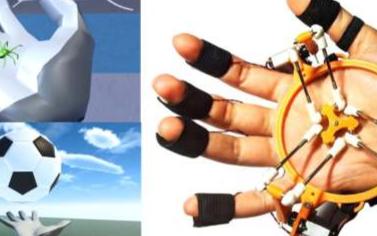 研究人员最新展示TouchVR手掌和手指触觉反馈...