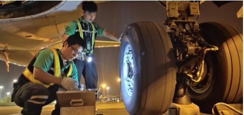 廣州白云國際機場地勤公司獲得了維修A320系列飛機的資格
