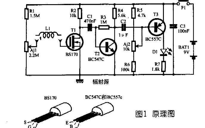 设计一个自制电磁辐射检测器的资料说明