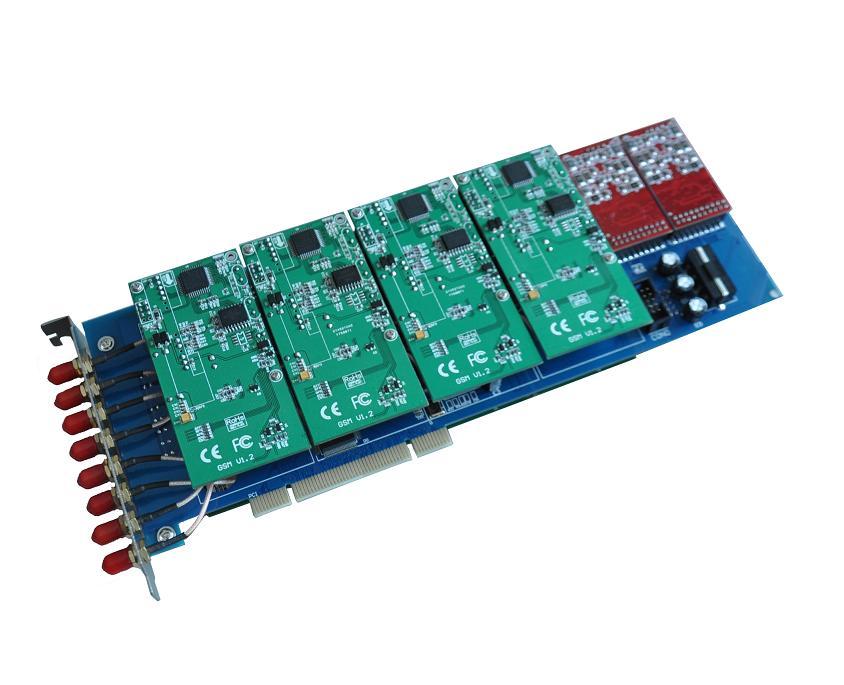 源创通信SINOV-GSM800P 8GSM模块 Asterisk卡介绍