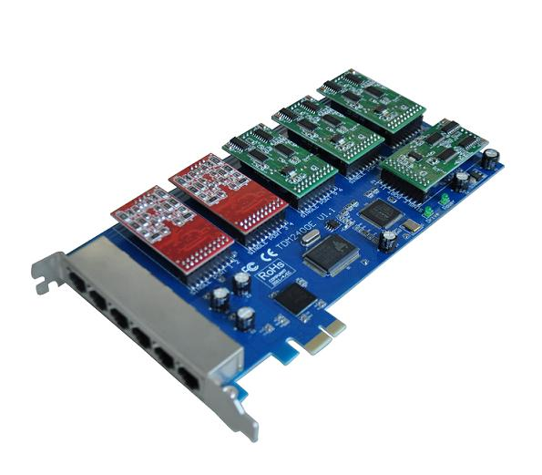 源创通信SinoV-2400E 24线 PCI-E Asterisk卡介绍