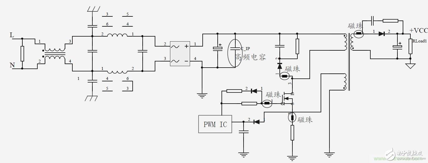 如何通过提升开关电源的EMI特性来改善整个电路的EMI性能