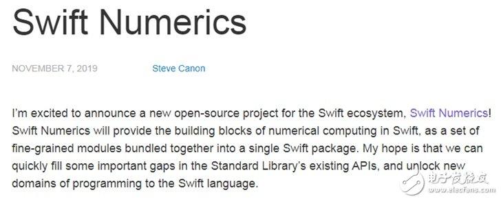 苹果Swift开源生态又添新成员