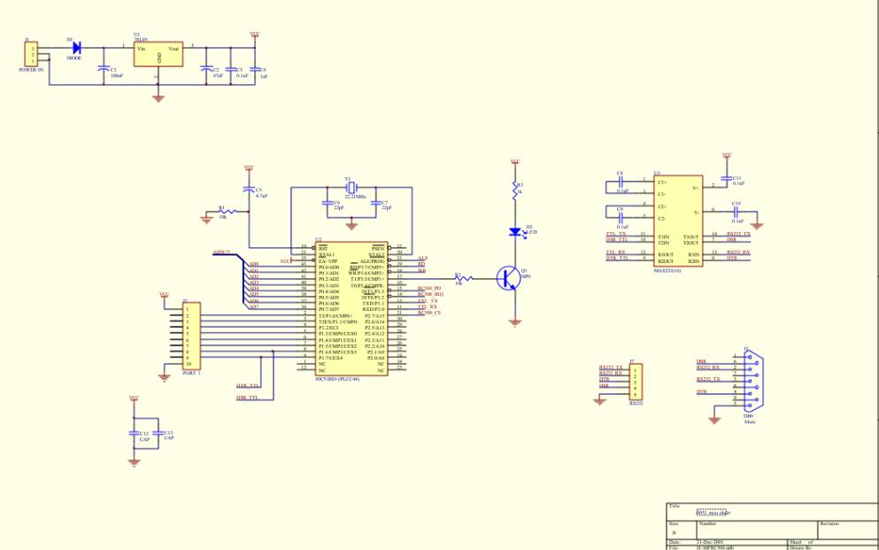 使用RC500制作读卡器的全套电路及PCB板图资料免费下载