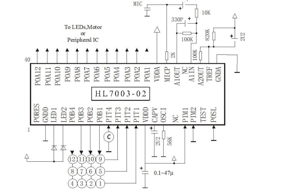 HL7003系列语音识别电路的使用资料详细说明