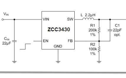 ZCC3430同步降压稳压器的数据手册免费下载