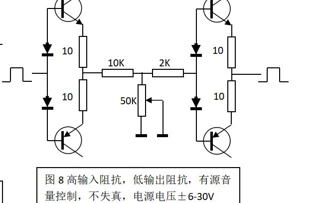 音量电位器的接法与频响等资料说明