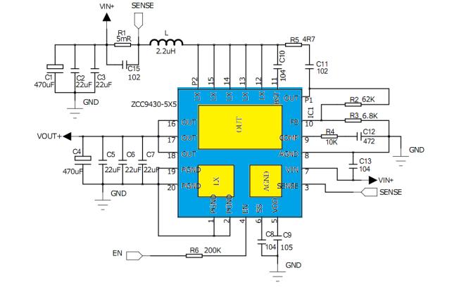 ZCC9430同步升压芯片的数据手册免费下载