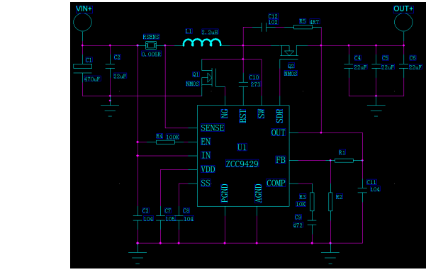 ZCC9429同步升压芯片的数据手册免费下载