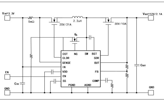 ZCC9428自动调频大功率同步升压芯片的数据手册免费下载
