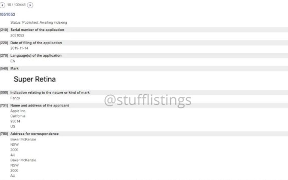 苹果申请超级视网膜显示屏商标,iPhone显示屏尺寸或有变化