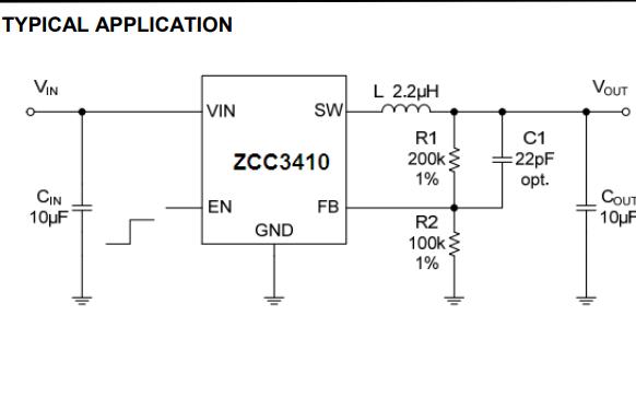 ZCC3410同步降压稳压器的数据手册免费下载