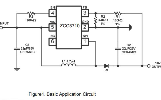 ZCC3710升壓轉換器的數據手冊免費下載