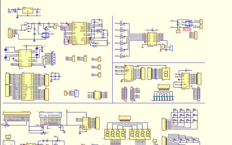 6单片机开发板的电路原理图免费下载
