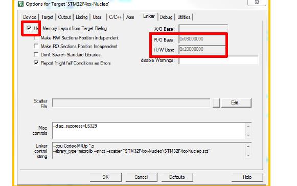 使用KEIL的时候如何让程序在RAM中运行