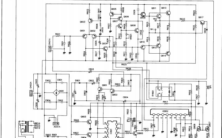 BW有源超低音扬声器ASW1000的结构和电路原理图免费下载