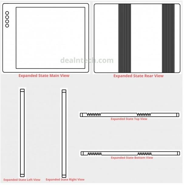 小米折叠屏专利曝光采用了双折方式可以让手机屏幕实现两处折叠