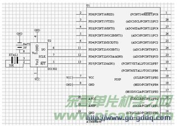 基于ATmega48单片机DS1302芯片的通讯程序设计