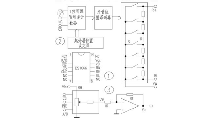 DS1666数字电位器的中文资料说明