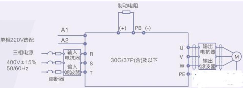 变频器如何连接潜水泵