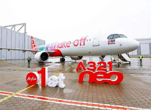 亚航集团正式迎来了首架空客A321neo飞机