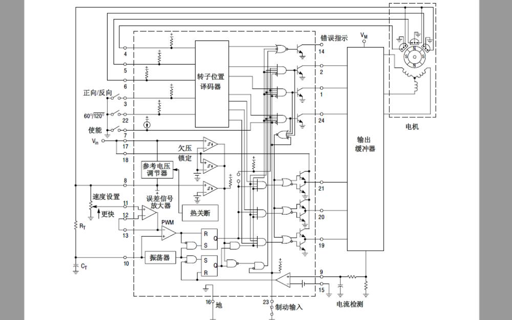 MC33035无刷直流电机控制器的数据手册免费下载
