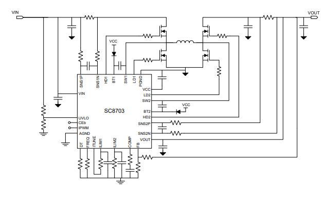 SC8703升降压控制器的数据手册免费下载