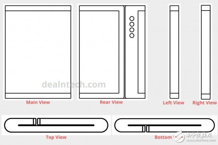 小米折叠屏专利曝光,对外折叠配有5个弹出式摄像头