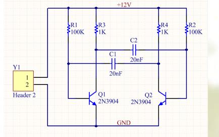绘制多谐振荡器电路原理图的教程说明