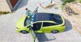 丰田太阳能电池板让车辆晒太阳就完成充电过程