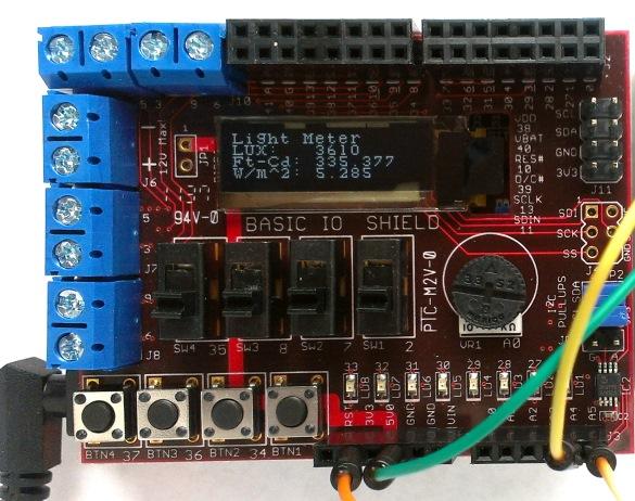 使用chipKIT的数字照度计Uno32的制作
