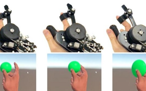 微软研究院研发出了新款原型VR控制器CapstanCrunch