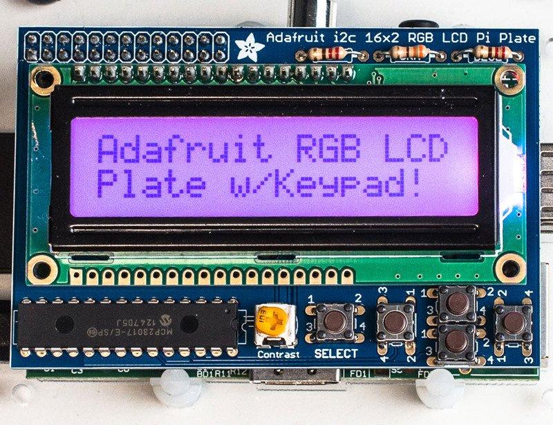如何制作适用于树莓派的Adafruit 16x2字符LCD +键盘