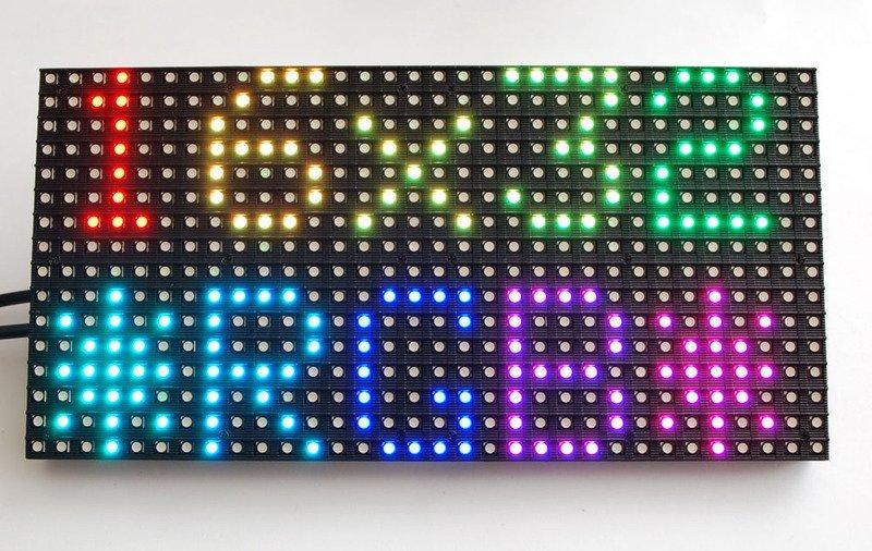 32x16和32x32 RGB LED矩阵的制作...