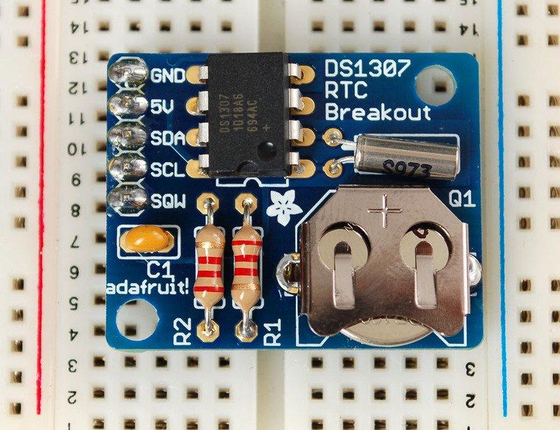 DS1307实时时钟分线板套件的使用