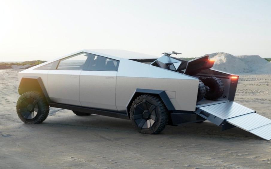 续航500英里 Tesla发布首款电动皮卡Cyb...
