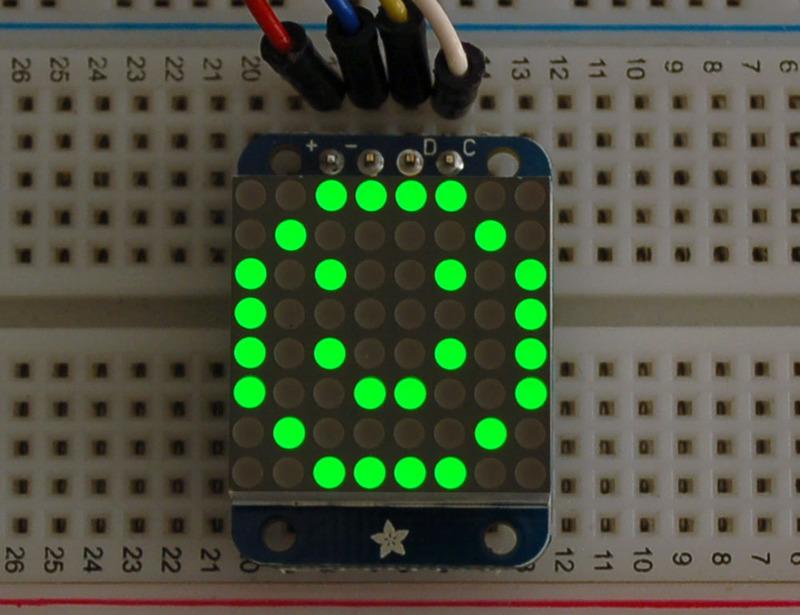 Adafruit LED矩阵的制作