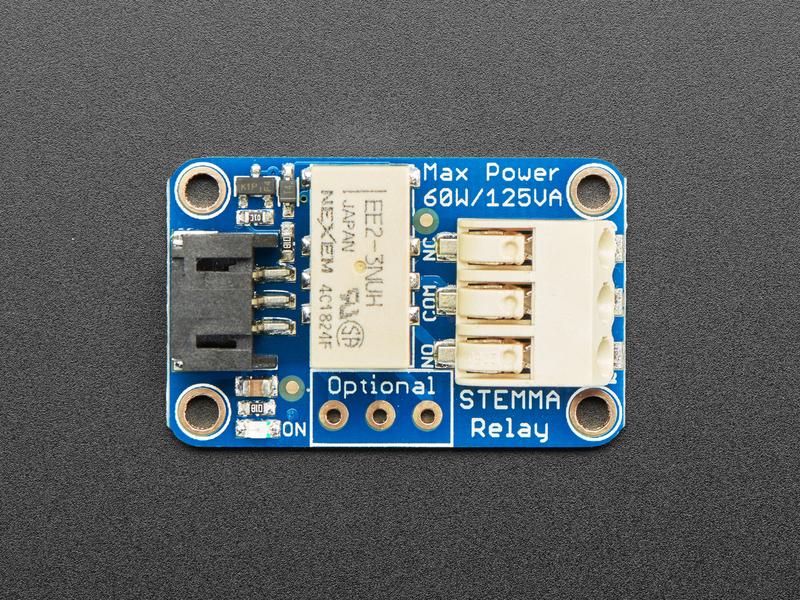 Adafruit STEMMA非闩锁迷你继电器的使用