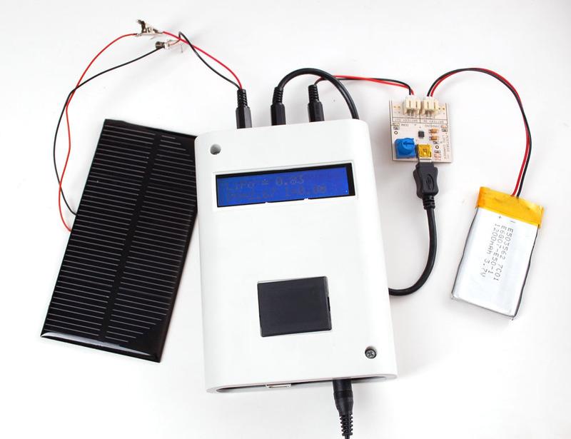 便携式太阳能充电追踪器的制作