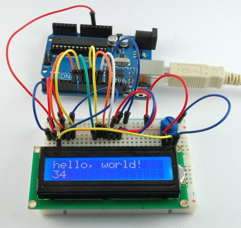 如何连接和使用字母数字LCD显示屏