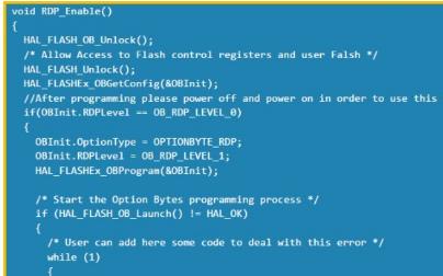 如何使用代碼清除STM32單片機上的PCROP