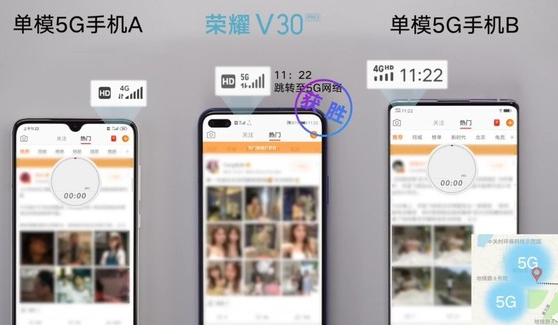荣耀V30 PRO手机搜网速度对比其他5G手机测评分析