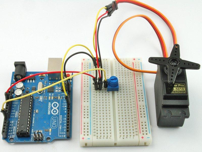 如何使用Arduino控制伺服电机