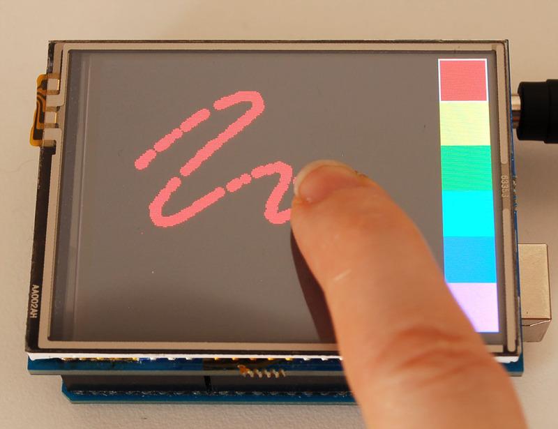 2.8英寸TFT触摸屏与Arduino的使用