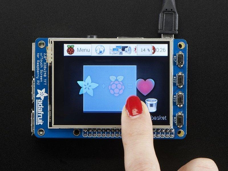 树莓派2.8英寸触摸屏显示器的使用