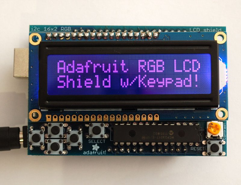 Adafruit RGB LCD防护罩的制作